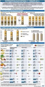 Сравнение состава корзины 2012 и 2013 года